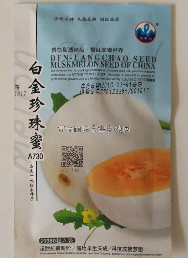 白皮黄肉甜瓜种子-白金珍珠蜜甜瓜种子-超甜抗病