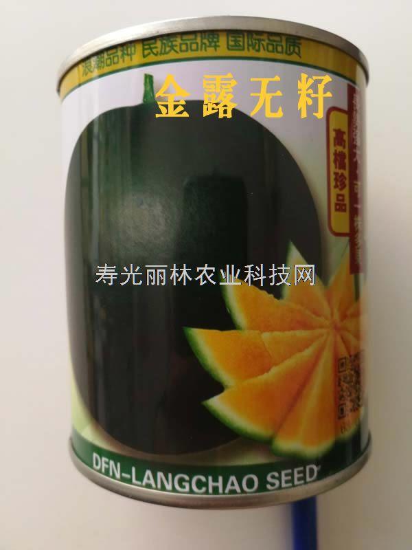 金露无籽西瓜种子-黑皮黄肉西瓜种子-高糖口感佳