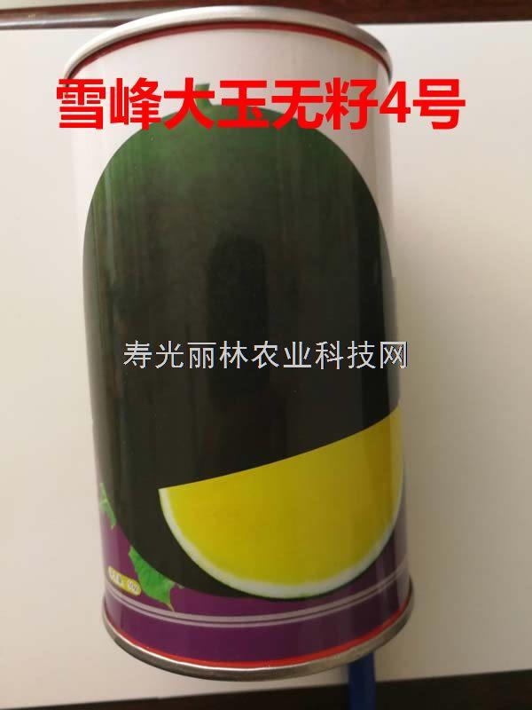 雪峰大玉无籽4号西瓜种子-深绿皮黄瓤大果型无籽西瓜