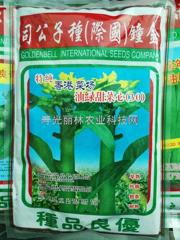 香港菜场油绿甜菜心30种子-高产菜心种子