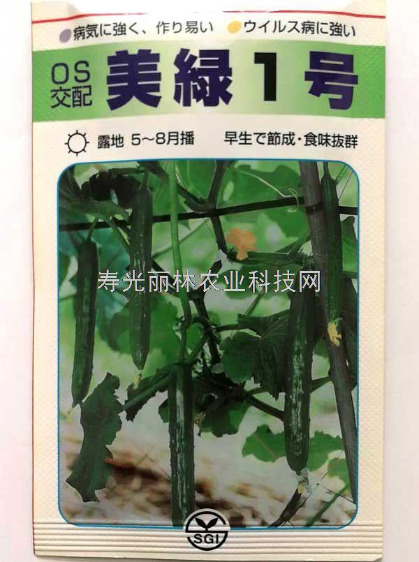 耐热日本小青瓜种子-耐热水果黄瓜种子-美绿一号