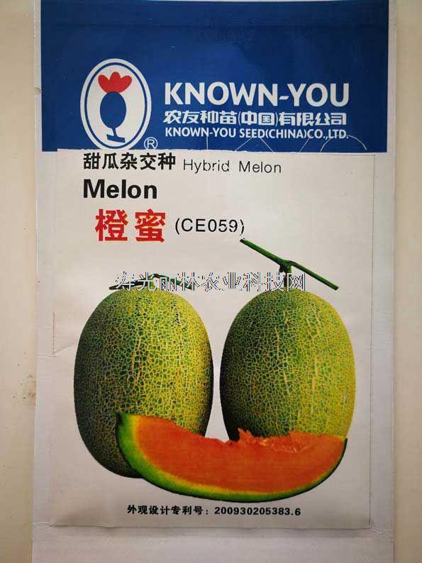 进口网纹甜瓜种子-台湾农友橙蜜甜瓜种子
